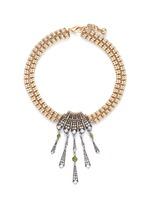 'Brigitte' Art Deco pendant glass stone necklace