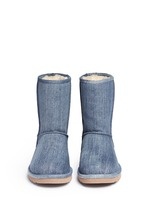 'Classic Short' washed denim boots
