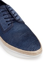 'Gordon Too' braided denim effect suede espadrille platforms