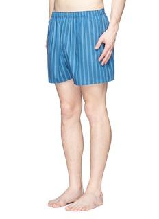 SunspelStripe print cotton boxer shorts
