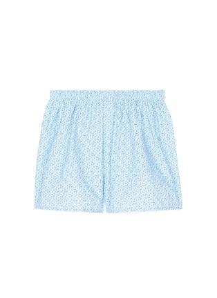 Sunspel-'Linear Floral' print cotton boxer shorts