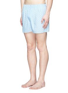Sunspel'Linear Floral' print cotton boxer shorts