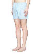 'Linear Floral' print cotton boxer shorts