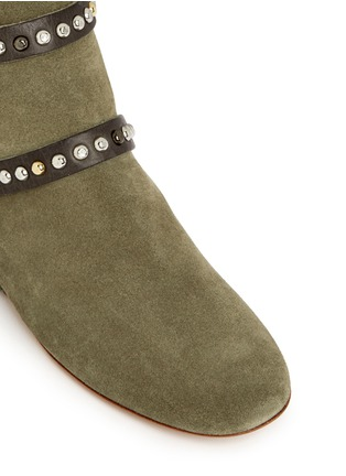 Detail View - Click To Enlarge - Isabel Marant Étoile - 'Ruben' stud strap suede ankle boots