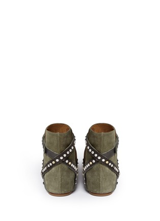 Back View - Click To Enlarge - Isabel Marant Étoile - 'Ruben' stud strap suede ankle boots