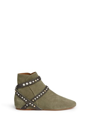 Main View - Click To Enlarge - Isabel Marant Étoile - 'Ruben' stud strap suede ankle boots