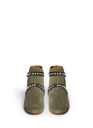Figure View - Click To Enlarge - Isabel Marant Étoile - 'Ruben' stud strap suede ankle boots
