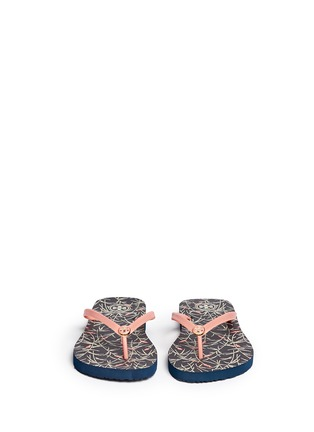 Detail View - Click To Enlarge - Tory Burch - 'Thin' floral print flip flops