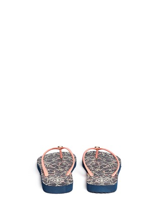 Back View - Click To Enlarge - Tory Burch - 'Thin' floral print flip flops
