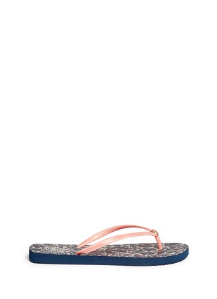 Main View - Click To Enlarge - Tory Burch - 'Thin' floral print flip flops
