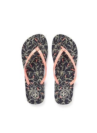 Figure View - Click To Enlarge - Tory Burch - 'Thin' floral print flip flops