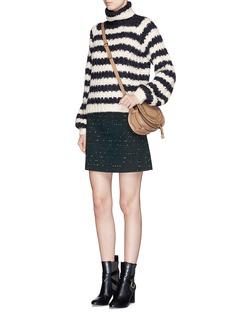CHLOÉSpotted confetti tweed wool blend mini skirt