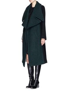 CHLOÉOversize buckle belt colourblock wool coat