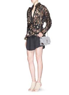 CHLOÉLurex star embroidery paisley print ruffle blouse