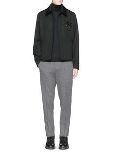 Alexander McQueenCrystal embroidery wool blouson jacket