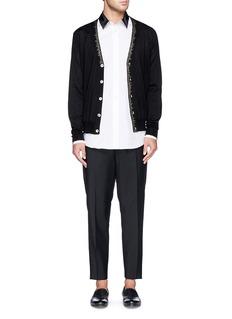 Alexander McQueenPatchwork collar shirt