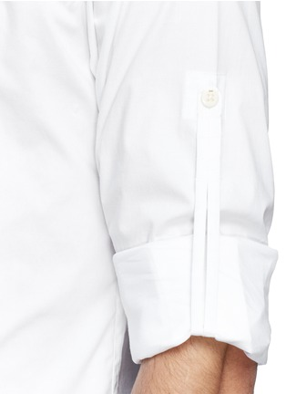 Detail View - Click To Enlarge - Denham - 'Pin' raglan sleeve poplin shirt