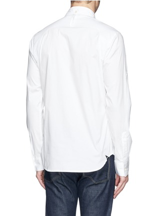 Back View - Click To Enlarge - Denham - 'Pin' raglan sleeve poplin shirt