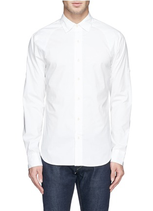 Main View - Click To Enlarge - Denham - 'Pin' raglan sleeve poplin shirt