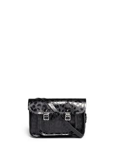 CAMBRIDGE SATCHELPunk-A-Rama' small leopard print leather shoulder bag