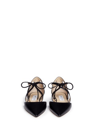 Figure View - Click To Enlarge - Jimmy Choo - 'Lyssa' d'Orsay leather lace-up skimmers