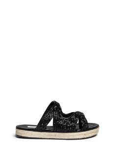 Jimmy Choo 'Nile' crystal mix patent leather sandals