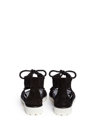 Back View - Click To Enlarge - Jimmy Choo - 'Wylde' rope lace-up suede sandals