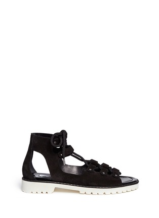 Main View - Click To Enlarge - Jimmy Choo - 'Wylde' rope lace-up suede sandals