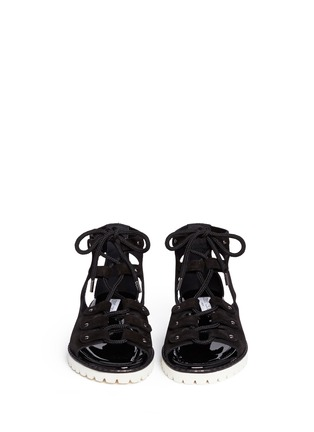 Figure View - Click To Enlarge - Jimmy Choo - 'Wylde' rope lace-up suede sandals
