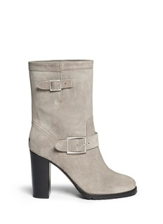 JIMMY CHOO'Dart' python embossed suede boots