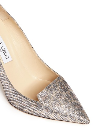 Detail View - Click To Enlarge - Jimmy Choo - 'Avril' glitter leopard print pumps