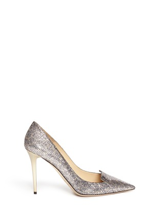 Main View - Click To Enlarge - Jimmy Choo - 'Avril' glitter leopard print pumps