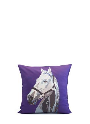 Main View - Click To Enlarge - CHLOE CROFT - Archie Horse Silk Cushion