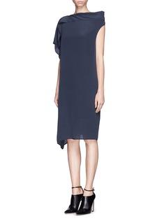 ACNE STUDIOS'Nightly Silk' asymmetric shift dress