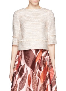 J. CREWCollection peach tweed top