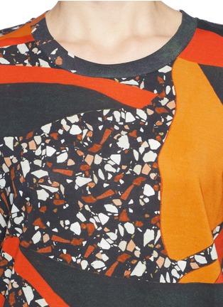 Detail View - Click To Enlarge - Acne Studios - 'Vista' Terrazzo print oversize T-shirt