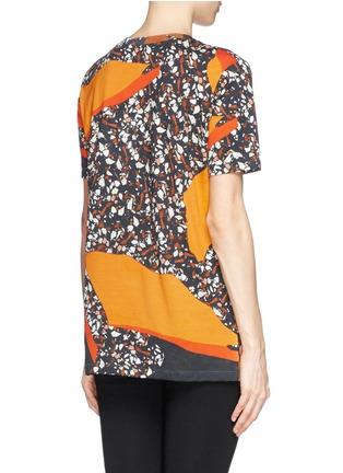 Back View - Click To Enlarge - Acne Studios - 'Vista' Terrazzo print oversize T-shirt