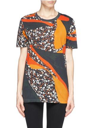 Main View - Click To Enlarge - Acne Studios - 'Vista' Terrazzo print oversize T-shirt