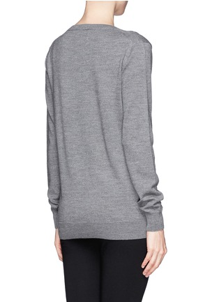 Back View - Click To Enlarge - MARKUS LUPFER - 'Catbat' sequin Nat sweater