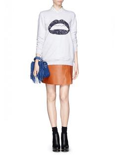 MARKUS LUPFERSequin smacker lip sweatshirt