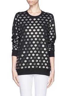 MARKUS LUPFERSmacker lip foil print sweatshirt