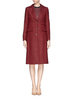 STELLA JEAN'Lisa' chevron wool knit coat