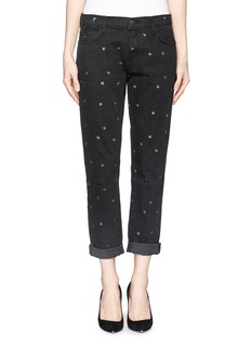 CURRENT/ELLIOTT 'The Fling' star print boyfriend jeans