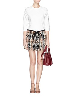 SEE BY CHLOÉ Geometric houndstooth wool blend skirt