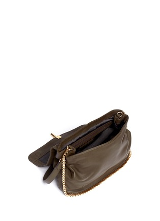 Detail View - Click To Enlarge - Elizabeth and James - Medium chain strap leather shoulder bag