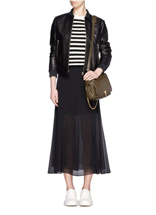 Figure View - Click To Enlarge - Elizabeth and James - Medium chain strap leather shoulder bag