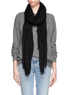 FALIERO SARTIAzzurra' cashmere-blend frayed edge scarf