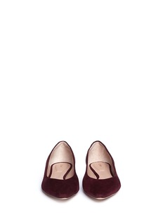 CHLOÉPoint-toe suede flats