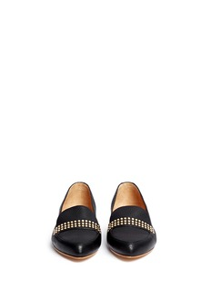CHLOÉ Stud leather slip-ons