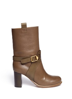 CHLOÉ Ankle harness leather boots